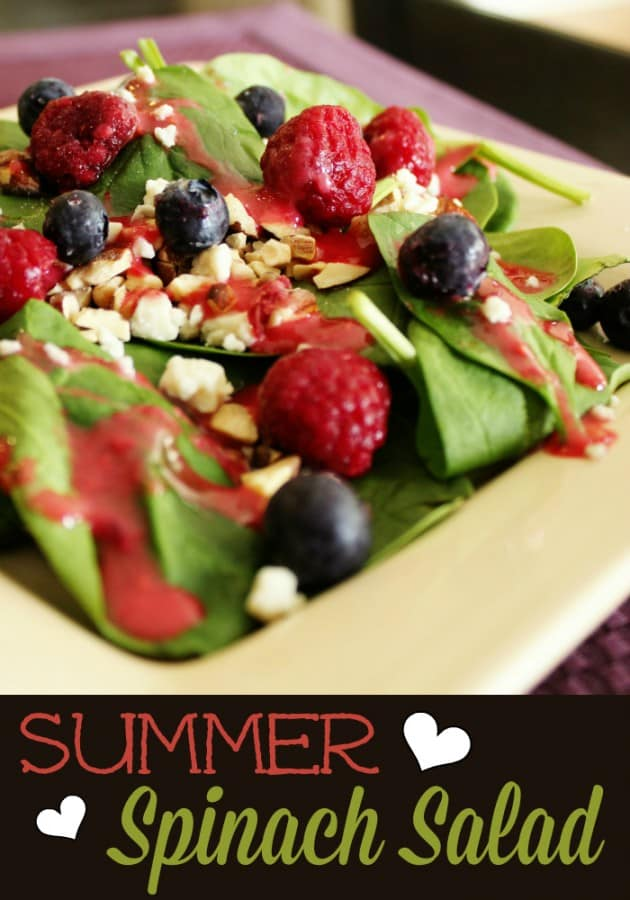 Summer Spinach Salad with Raspberry Vinaigrette - Favorite Family Recipes