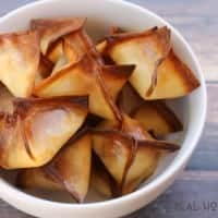 Sun Dried Tomato Wonton Bites are an easy to make party app you can prep ahead of time and bake when ready!