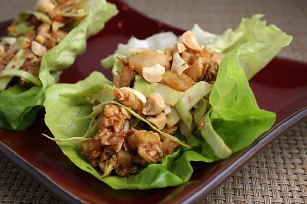Sweet and Spicy Chicken Lettuce Wraps - Recipe Girl
