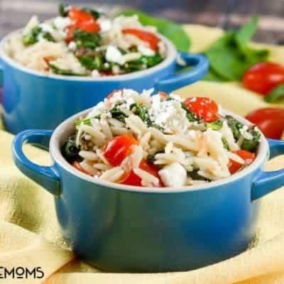 Tomato Feta Orzo Salad Cups