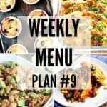 Weekly Menu Plan #9