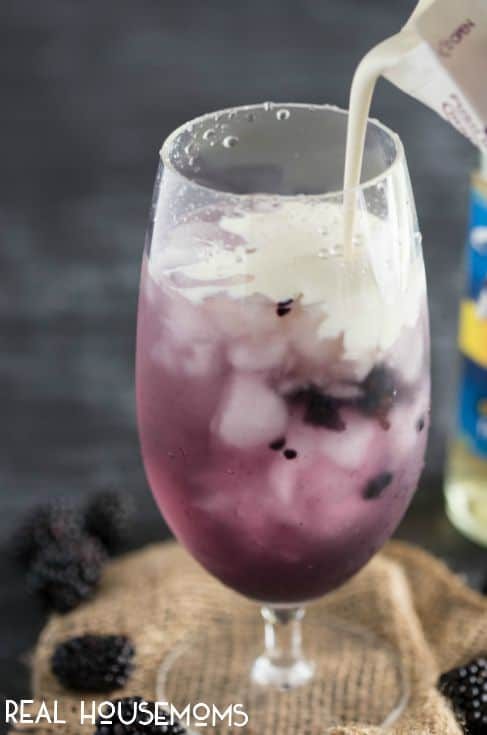 Creamy, fresh tasting, and bubbly delicious. This Blackberry Vanilla Italian Soda is absolutely delicious, and so easy to make!
