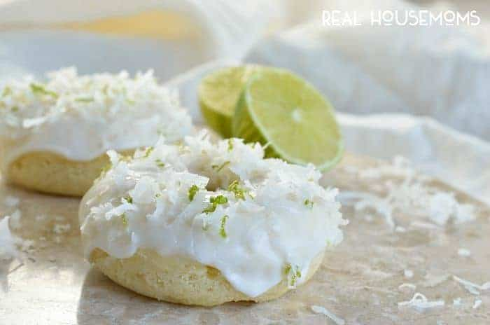 Coconut Lime Donuts are full of flavor! This breakfast will start your day with a smile!