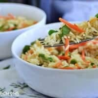 Leave the boxed rice on the shelf! Homemade Rice Pilaf is so easy to make and you have complete control over the ingredients!