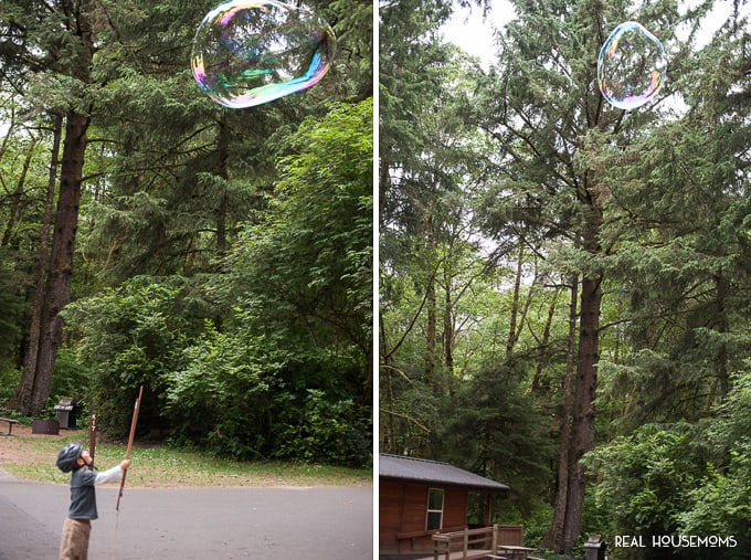 I'll tell you How to Make GIANT Bubbles with your own homemade bubble wands and solution so that kids and adults alike can enjoy immeasurable outdoor fun.