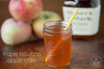 Maple Bourbon Apple Cider | Self Proclaimed Foodie