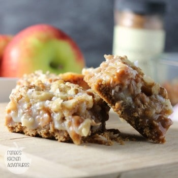 salted caramel apple magic cookie bars
