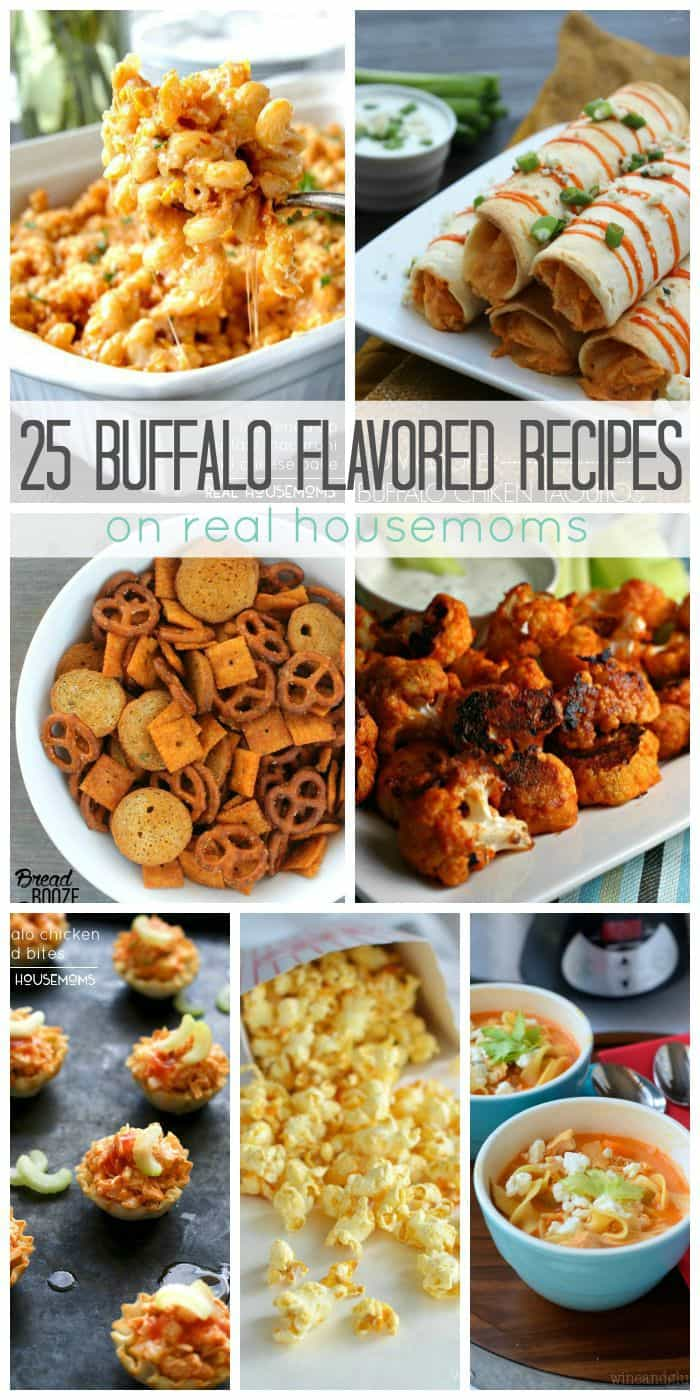 Get ready for game day with our 25 Buffalo Flavored Recipes! Spice up your favorite dishes (and find some new ones) that are sure to be the hit of your party!