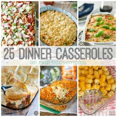 Comfort food is the best, and these 25 Dinner Casseroles are just the thing to feed a crowd and fill you up!