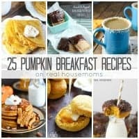 Your favorite fall flavor takes over the most important meal of the day with these 25 Pumpkin Breakfast Recipes!