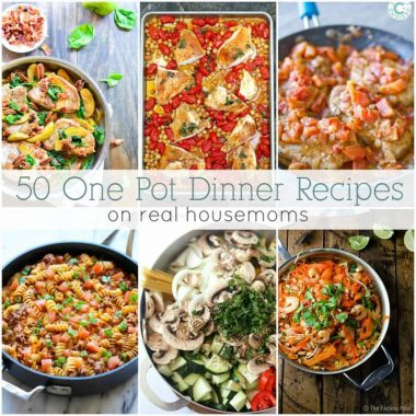 Looking for some new meal time inspiration? These 50 One Pot Dinner Recipes are simple, delicious, and best of all...have minimal clean up!
