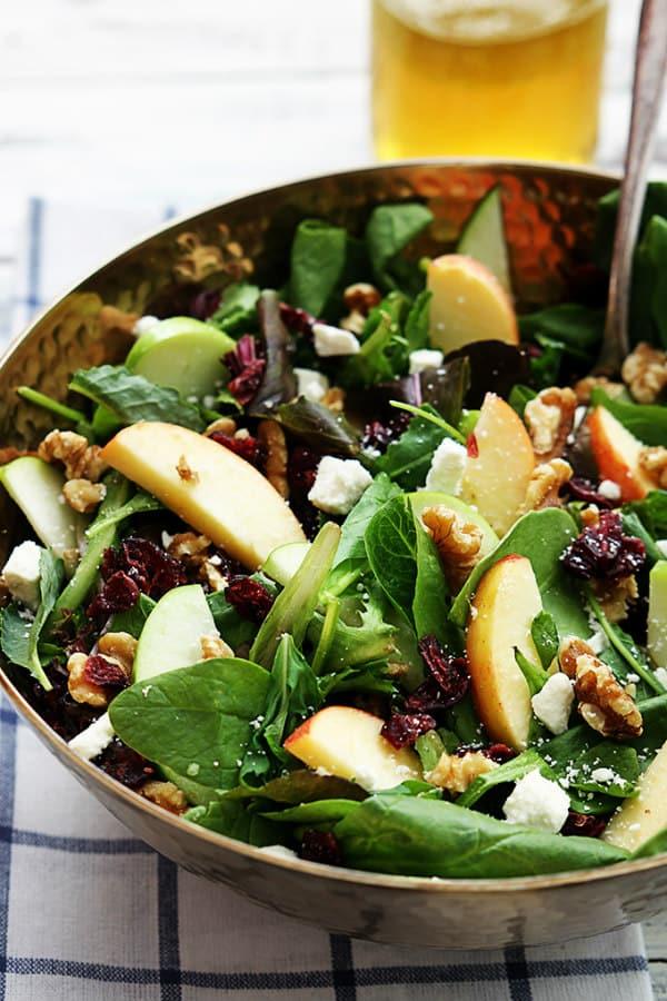 Apple- Cranberry Walnut Salad - Creme de la Crumb