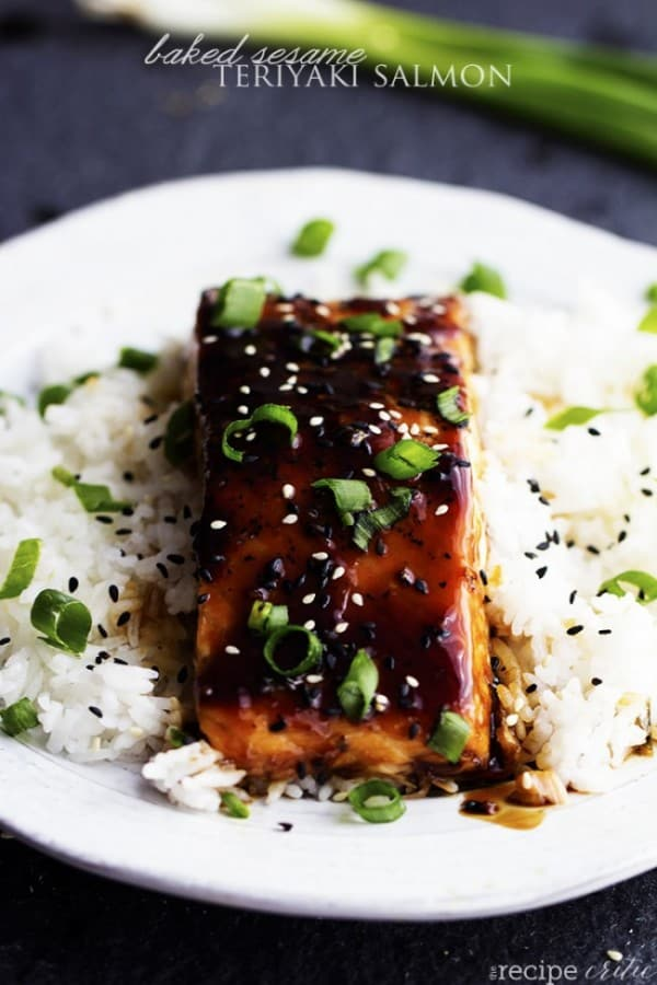 Baked Sesame Teriyaki Salmon - The Recipe Critic