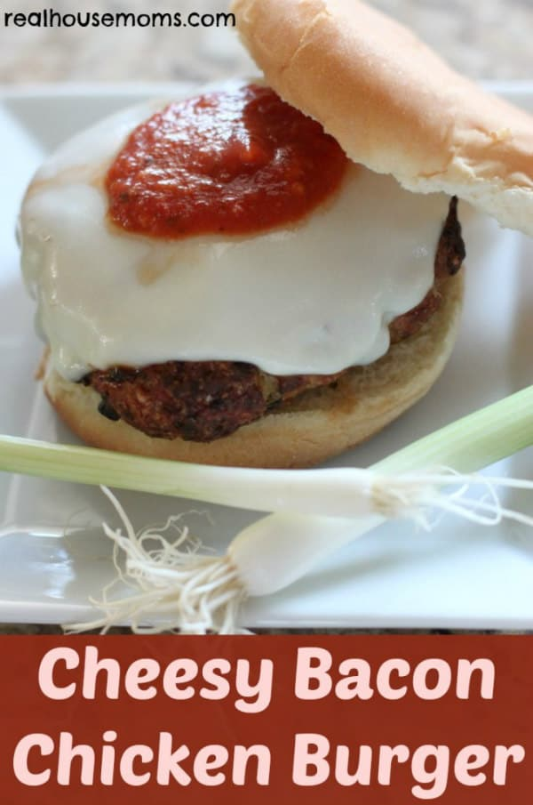Cheesy Bacon- Chicken Burger - Real Housemoms