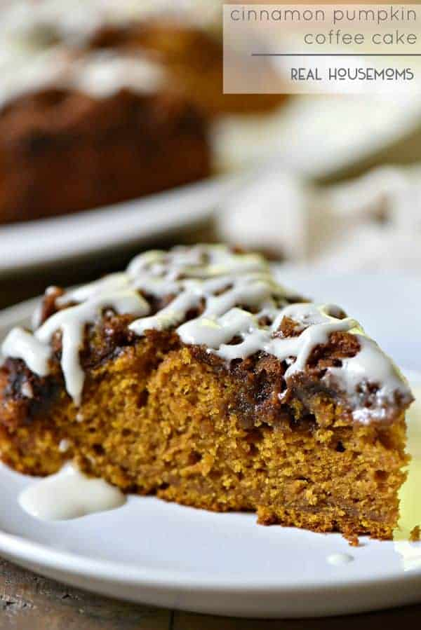 Cinnamon Pumpkin Coffee Cake is like a pumpkin party in your mouth!
