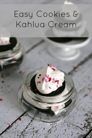 Easy Cookies and Kahlua Cream {i love} my disorganized life
