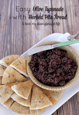 Easy-Olive-Tapenade-with-Herbed-Pita-Bread-the-perfect-weekend-appetizer
