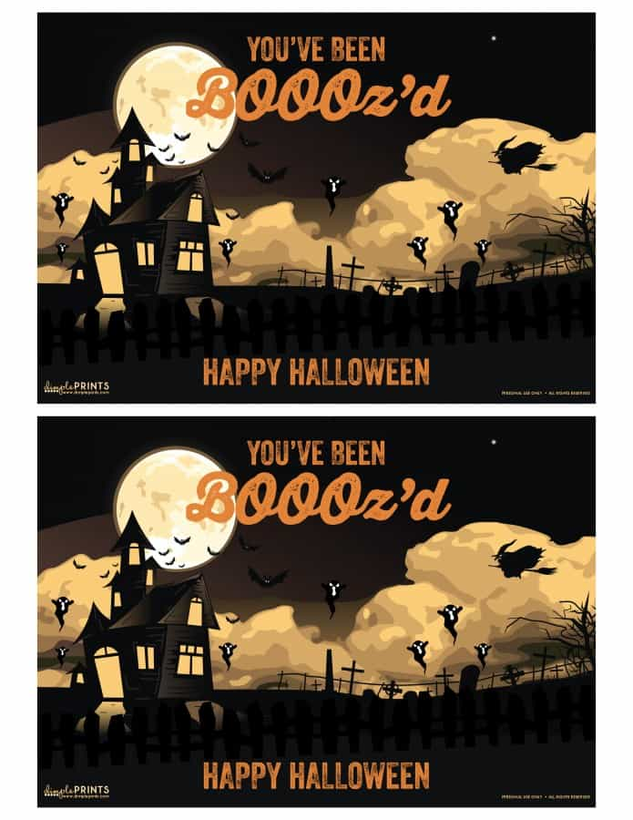 Being Boood is fun for the kids, but this year let the adults have some fun with our You've Been BOOOz'd Halloween Printable!
