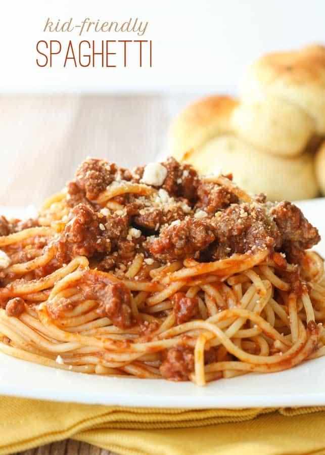 Kid-Friendly Spaghetti - Lil' Luna