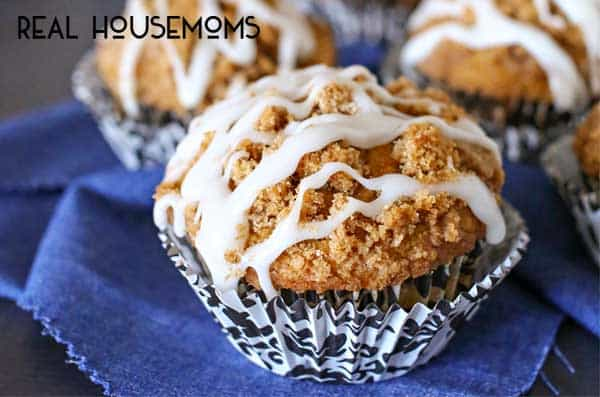 Loaded with pumpkin flavor & delicious glaze, these Pumpkin Streusel Muffins are the epitome of the perfect fall breakfast!