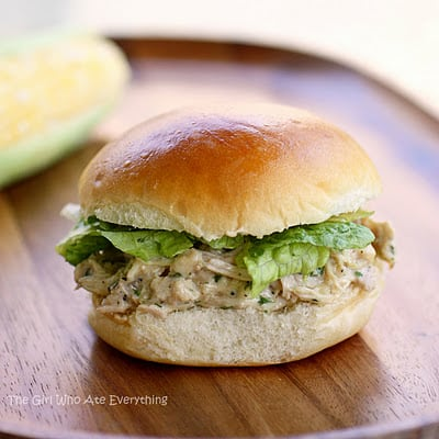 Slow Cooker Chicken Caesar Sandwiches - The Girl Who Ate Everything