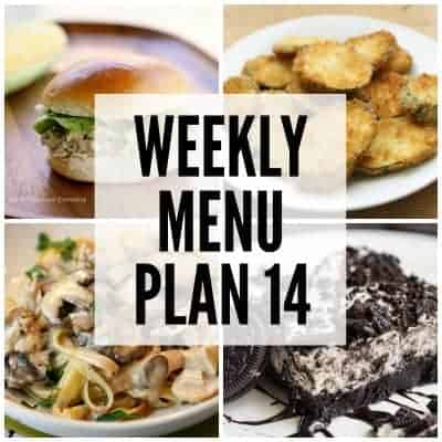 Weekly Menu Plan #14