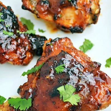 Chili Rubbed Chicken with Apricot Glaze