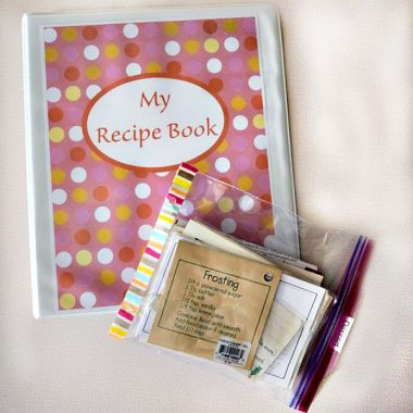 Recipe Organization Binder