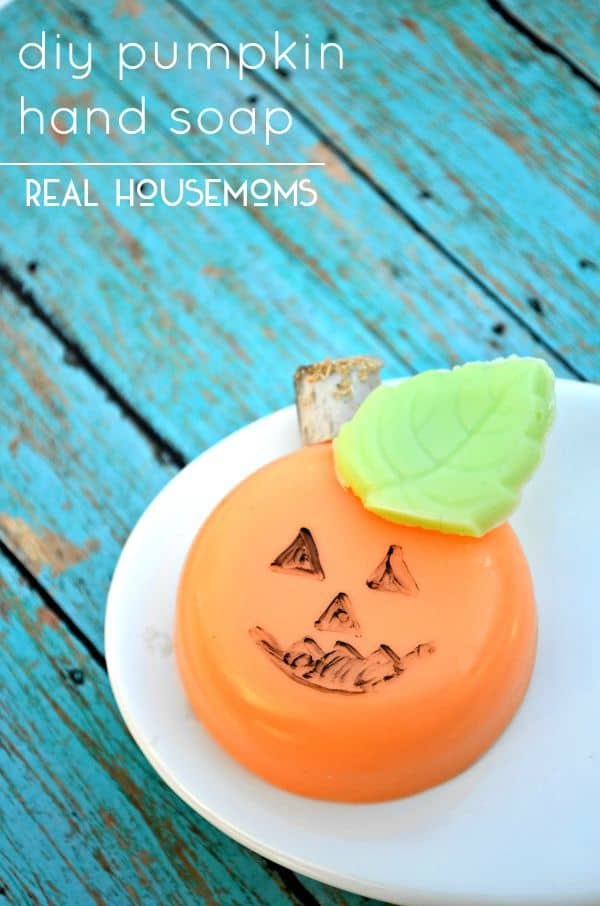 Our DIY Pumpkin Hand Soap tutorial will show you just how easy it is to make your own hand soaps and turn them into a cute little decoration!