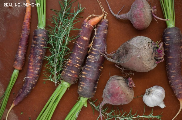 Roasted Rosemary Beets and Carrots are a colorful and healthy side dish, perfect for any fall dinner!