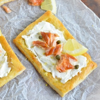 Smoked Salmon Puffed Pastry