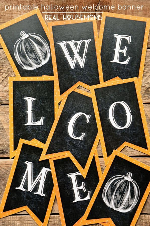 This Printable Halloween Welcome Banner is the perfect addition to your fall decor!