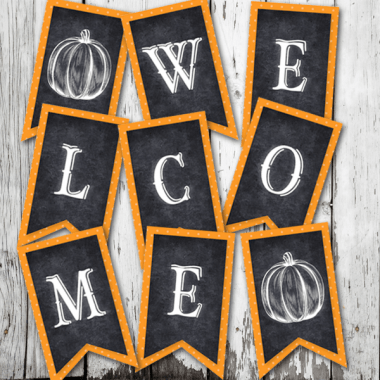 Printable Halloween Welcome Banner