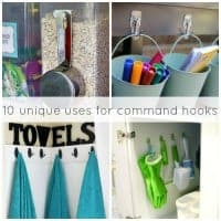 We all love Command Hooks and they are great for organizing! Here are 10 unique uses for command hooks you may have never thought to do around your home.