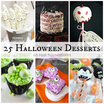 These 25 Halloween Desserts are frighteningly fun! Get your ghoul on with these fun and easy to make treats that'll be the life of the party!