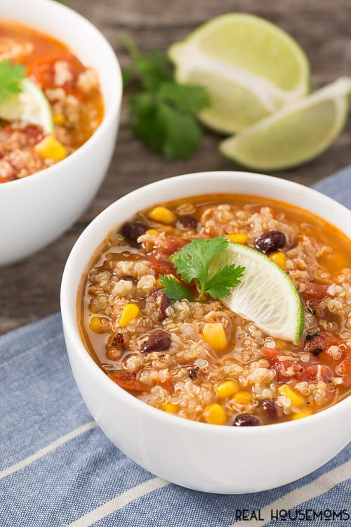 Southwest Quinoa Soup is a hearty, fulfilling soup that makes a meal and easy to prepare with great flavor! Grab a bowl and spoon!
