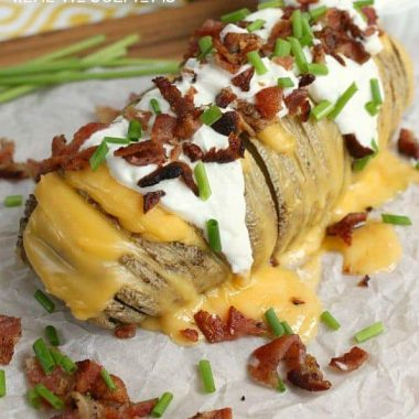 Fully Loaded Hasselback Potatoes