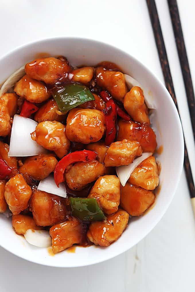 Healthy Sweet & Sour Chicken - La Creme de la Crumb