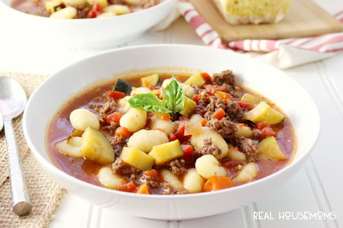 Pull out your stockpot and make this Italian Sausage & Gnocchi Soup today! This soup will have you begging for another bowl! Mangia!