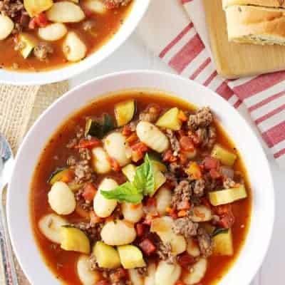 Italian Sausage & Gnocchi Soup