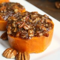 Who doesn't love sweet potatoes on Thanksgiving? This mini sweet potato casserole recipe is an easy Thanksgiving side dish filled with crunchy pecans, and sweet brown sugar and cinnamon.
