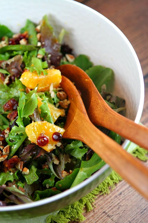 Mixed Green Salad with Oranges, Cranberries and Pecans - Recipe Girl