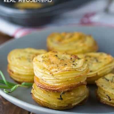 Parmesan and Rosemary Potato Stacks