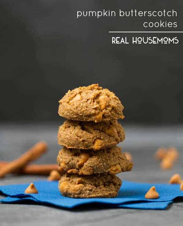 Pumpkin Butterscotch Cookies ⋆ Real Housemoms