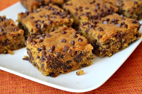 Pumpkin Chocolate Chip Squares - Recipe Girl