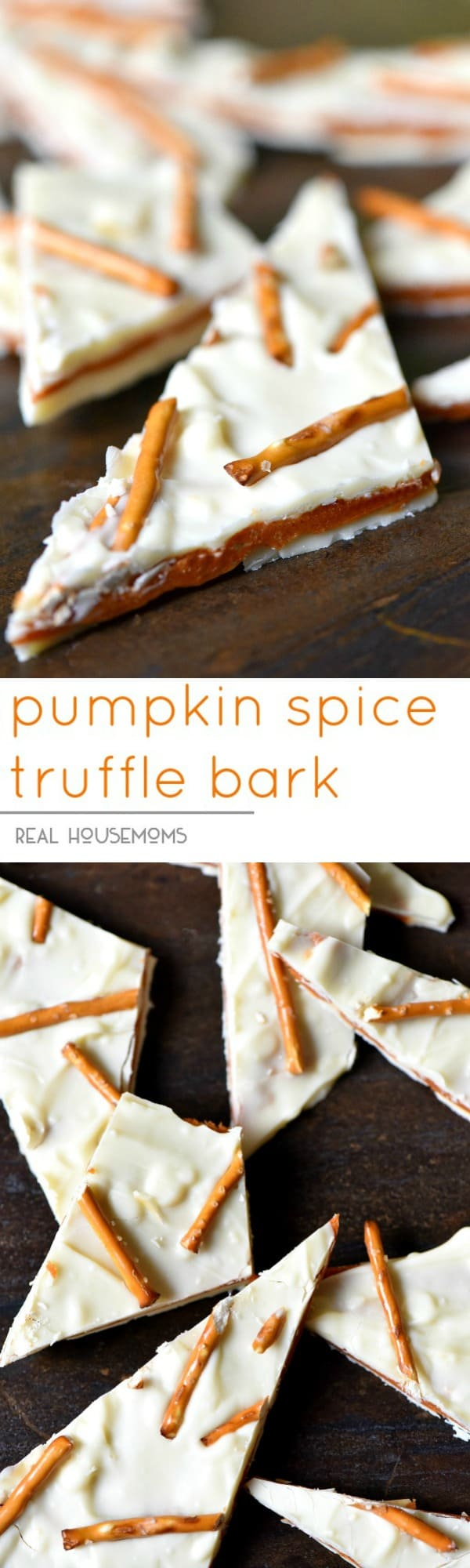 Pumpkin Spice Truffle Bark is a must make easy fall dessert!