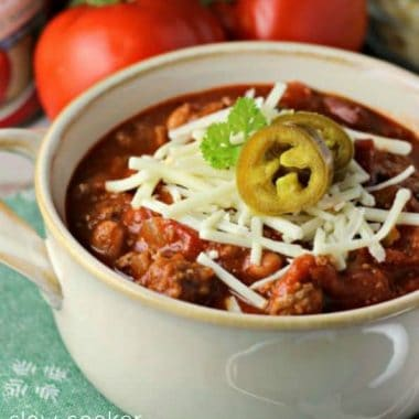 Slow Cooker Copycat Wendy's Chili is an easy way to prepare your favorite fast food chili right at home. You won't believe how close this chili is to the real deal!