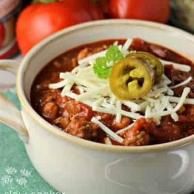 Slow Cooker Copycat Wendy's Chili