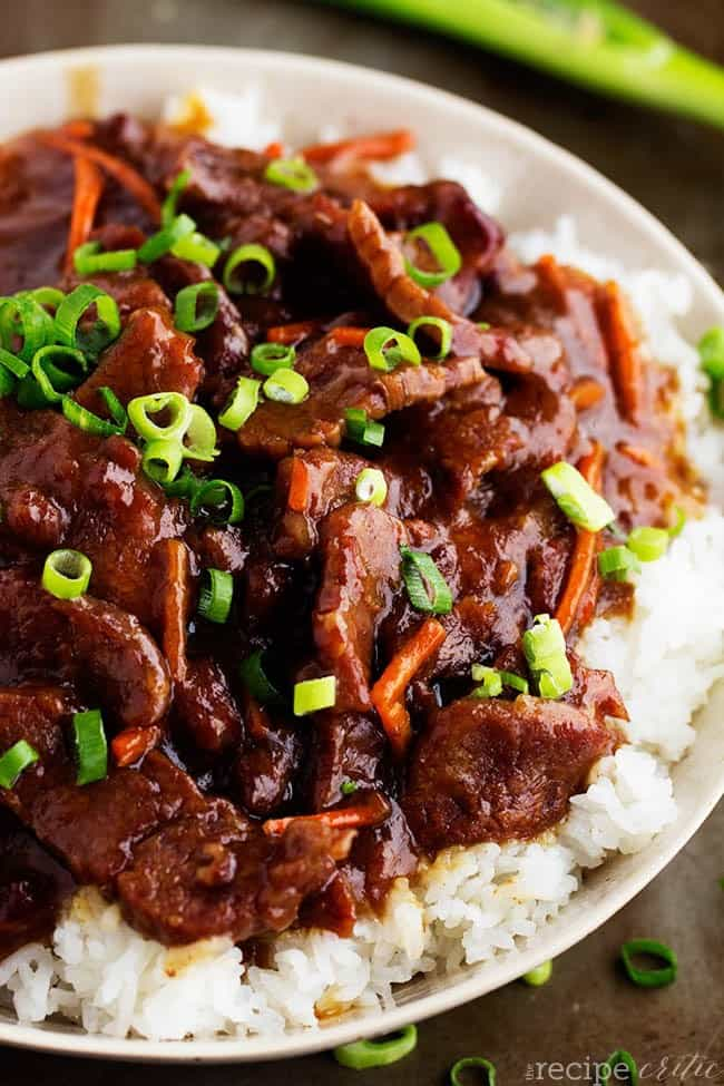 Slow Cooker Mongolian Beef - The Recipe Critic