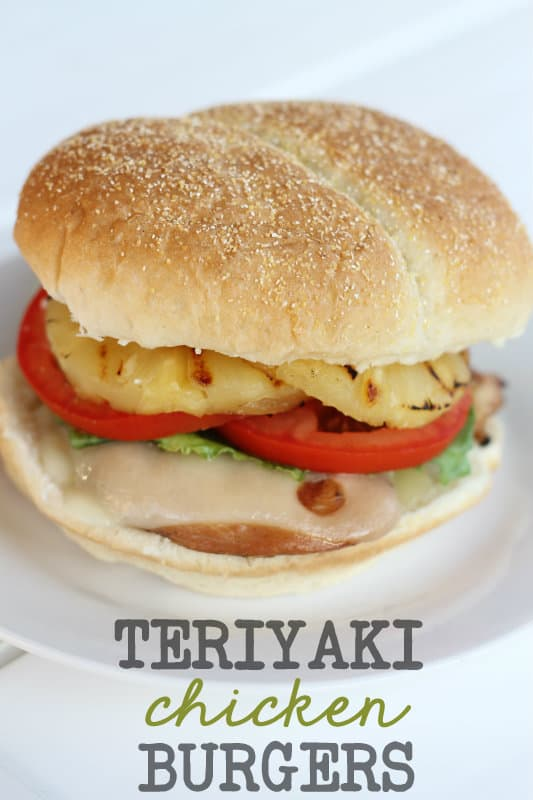 Teriyaki Chicken Burgers - Lil' Luna